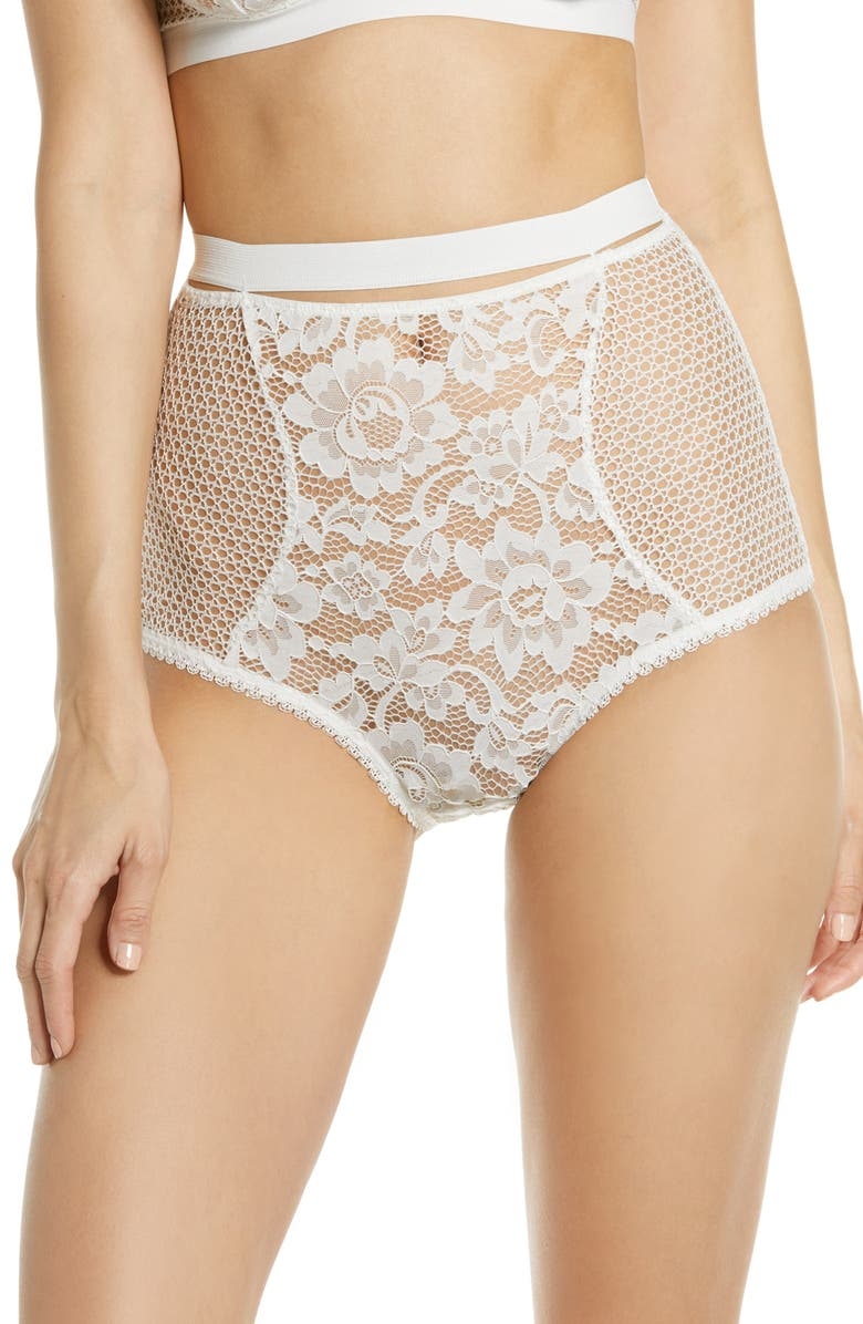 ELSE Petunia Lace Briefs, Main, color, IVORY