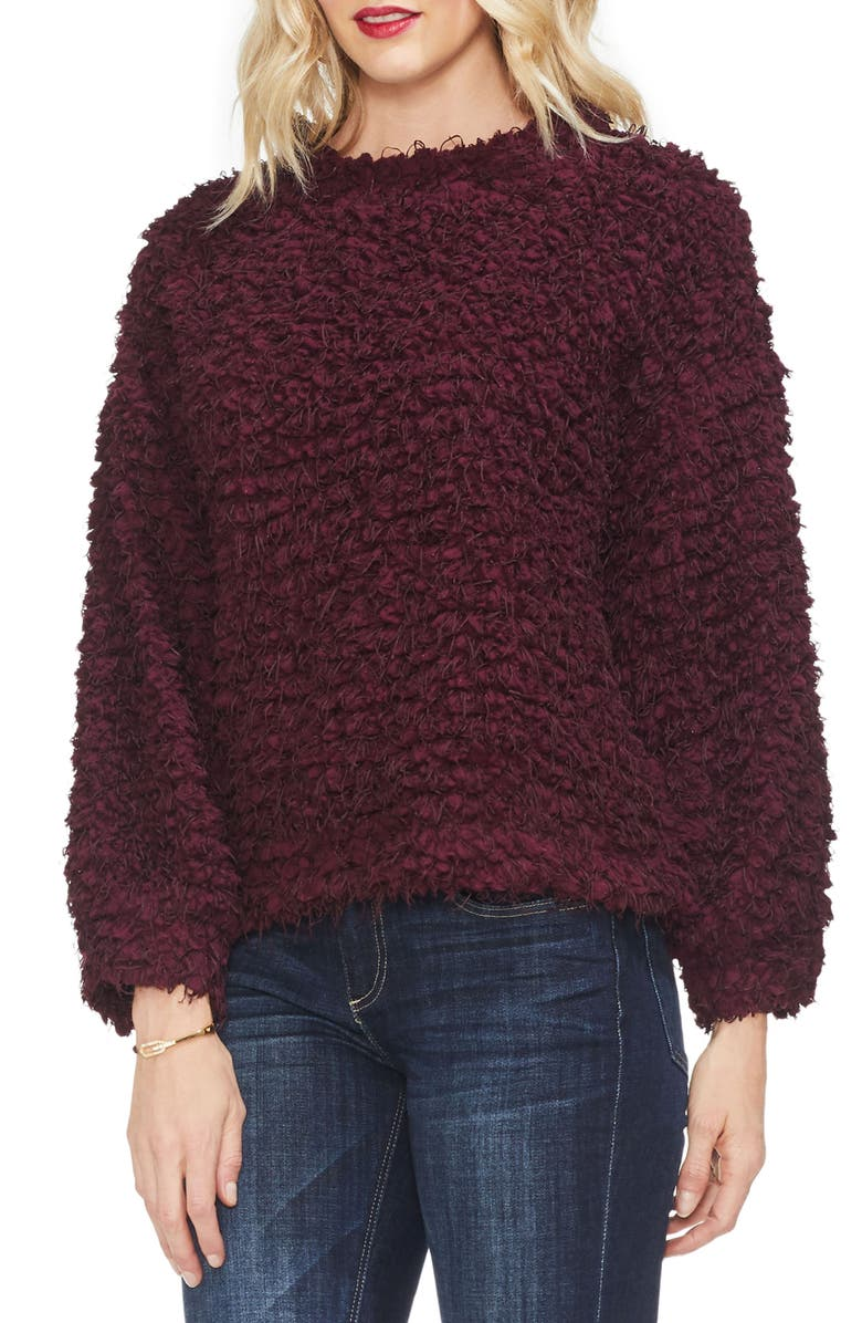 VINCE CAMUTO Bubble Sleeve Popcorn Knit Top, Main, color, 616