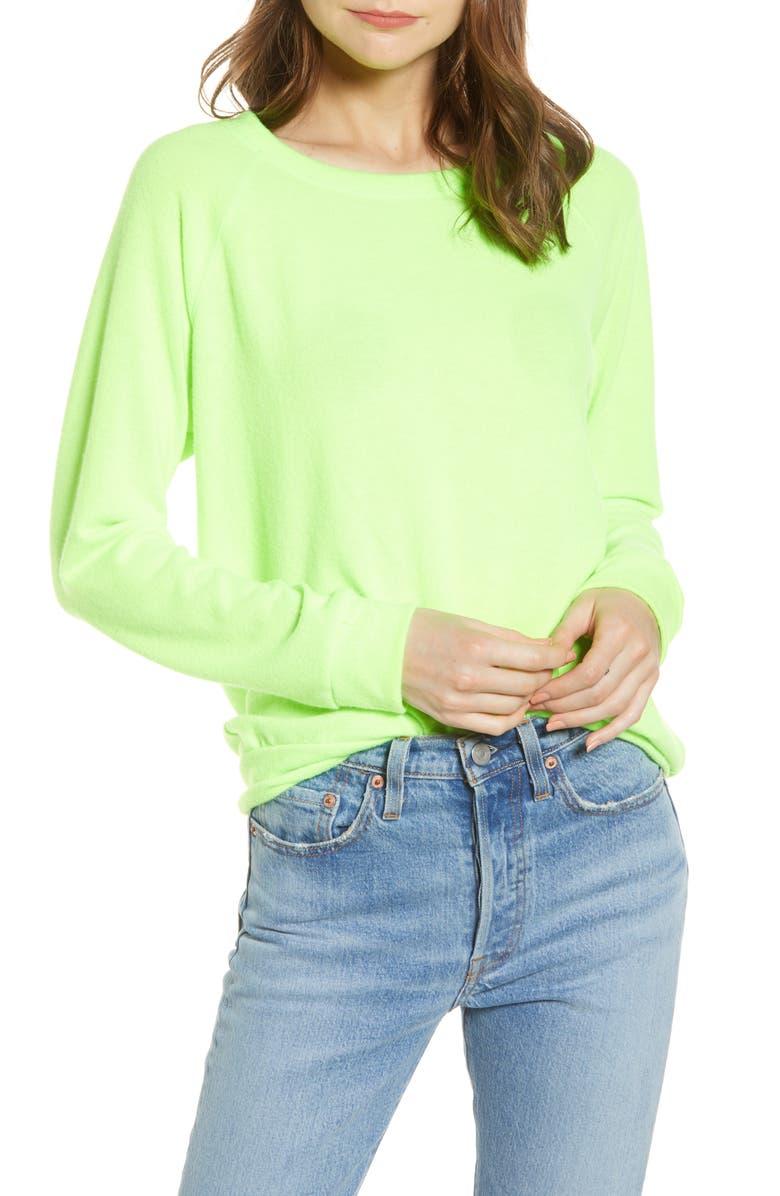 PRINCE PETER Neon Raglan Sweatshirt, Main, color, 300