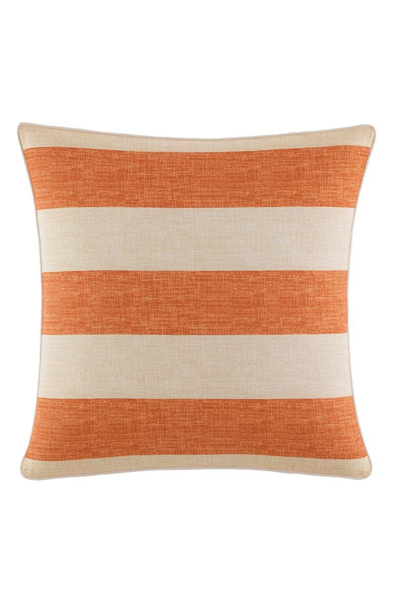 TOMMY BAHAMA Palmiers Square Accent Pillow, Main, color, DARK ORANGE