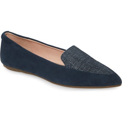Taryn Rose Faye Pointy Toe Loafer, Blue