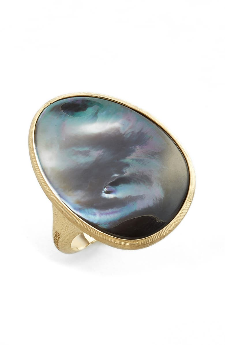 MARCO BICEGO Lunaria Mother of Pearl Ring, Main, color, GREY MOTHER OF PEARL