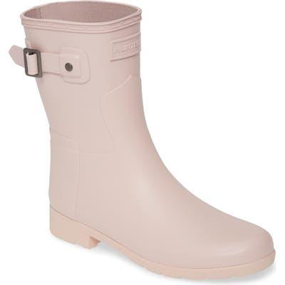Hunter Original Refined Short Waterproof Rain Boot, Pink