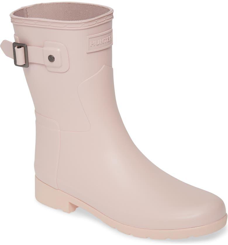 HUNTER Original Refined Short Waterproof Rain Boot, Main, color, ECHO
