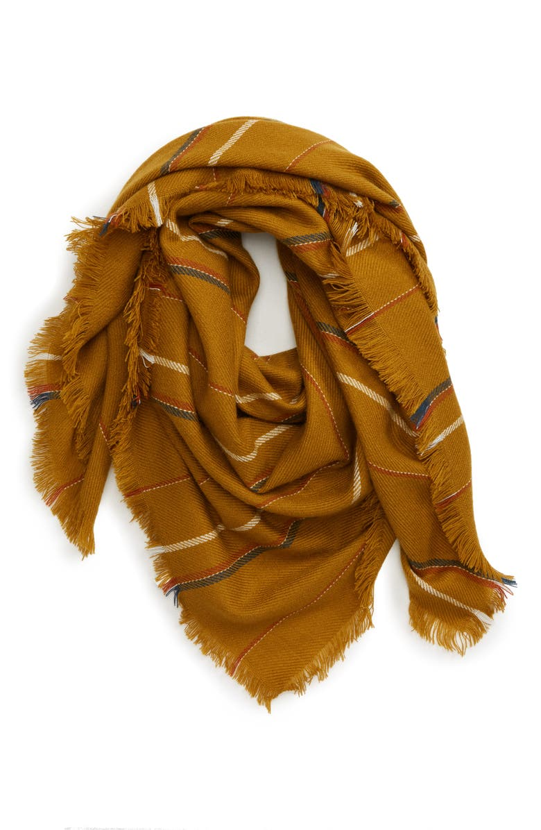 MADEWELL Shalford Stripe Blanket Scarf, Main, color, EGYPTIAN GOLD MULTI