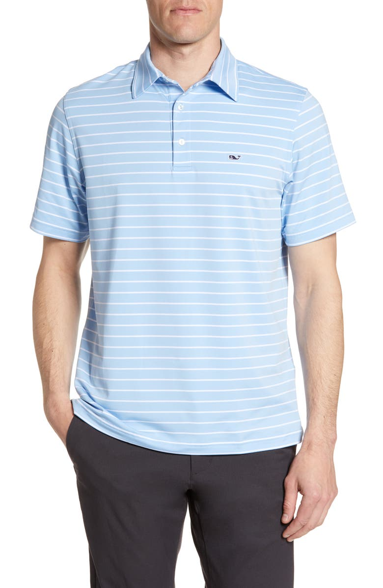 VINEYARD VINES Southampton Regular Fit Stripe Polo, Main, color, 456