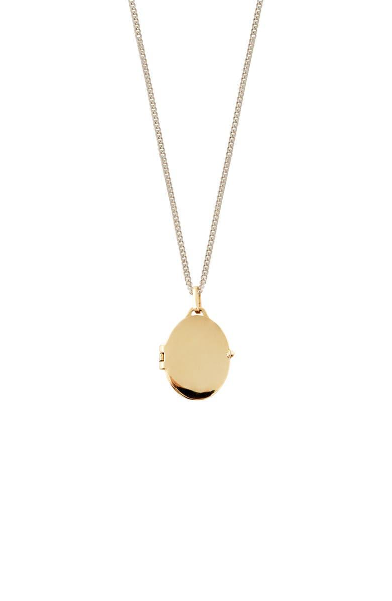 LOREN STEWART Long Two-Tone Locket Pendant Necklace, Main, color, 710
