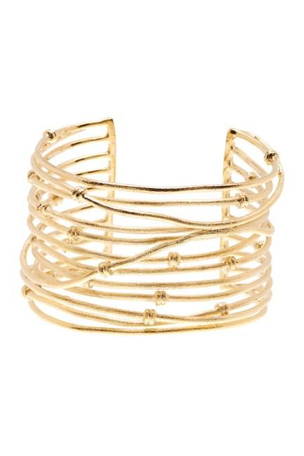 Image of Rivka Friedman 18K Gold Clad Bold Satin Mina Cuff Bracelet