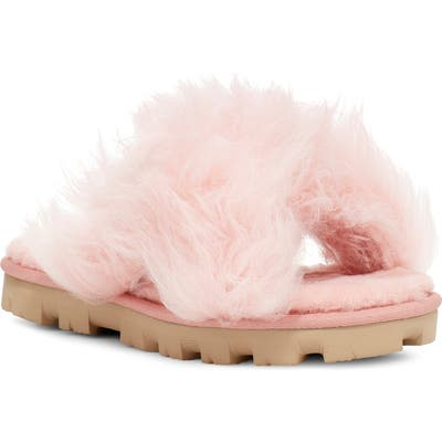 UGG Fuzzalicious Genuine Shearling Slipper, Pink