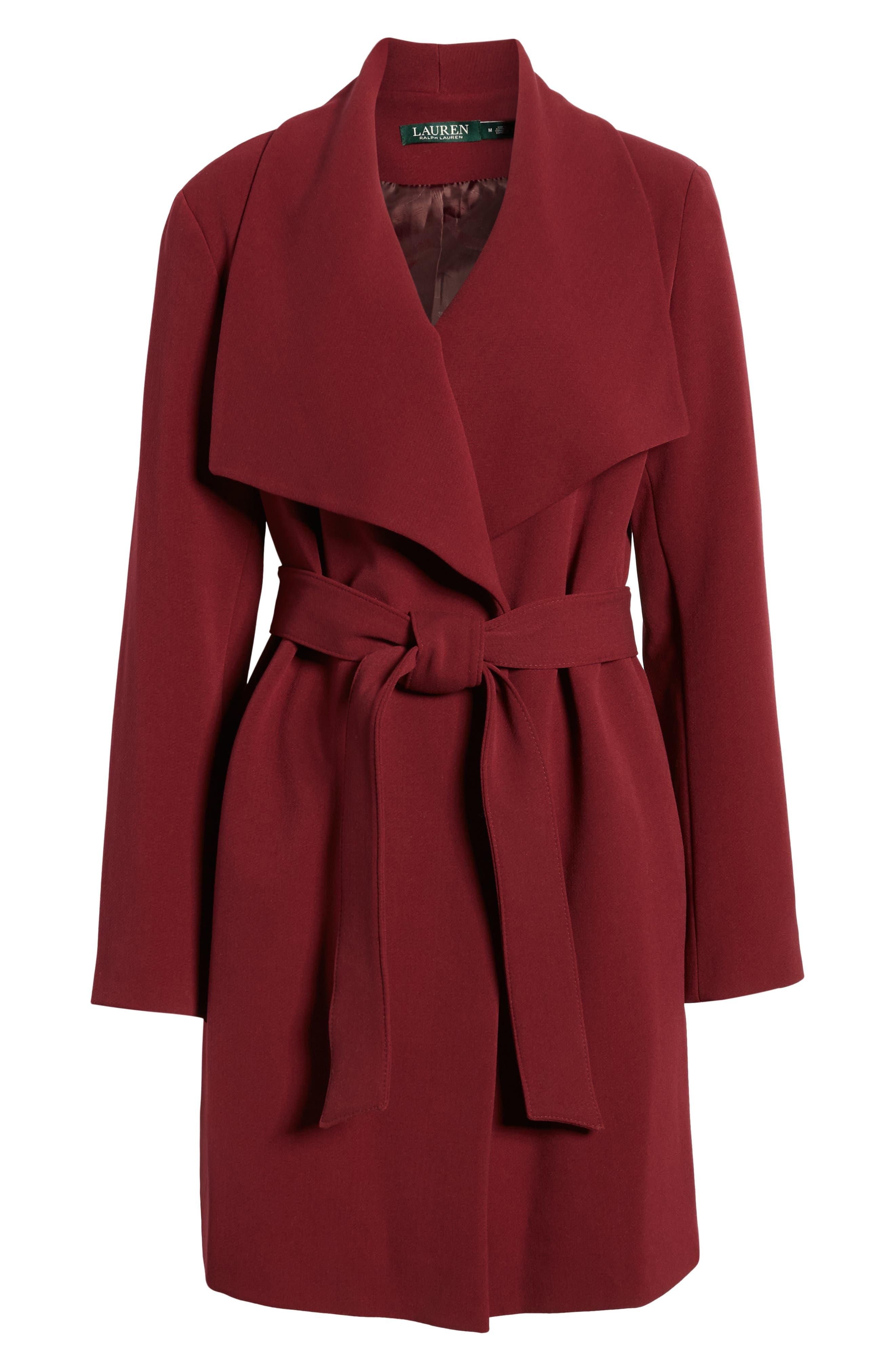,                             Belted Drape Front Coat,                             Alternate thumbnail 34, color,                             938