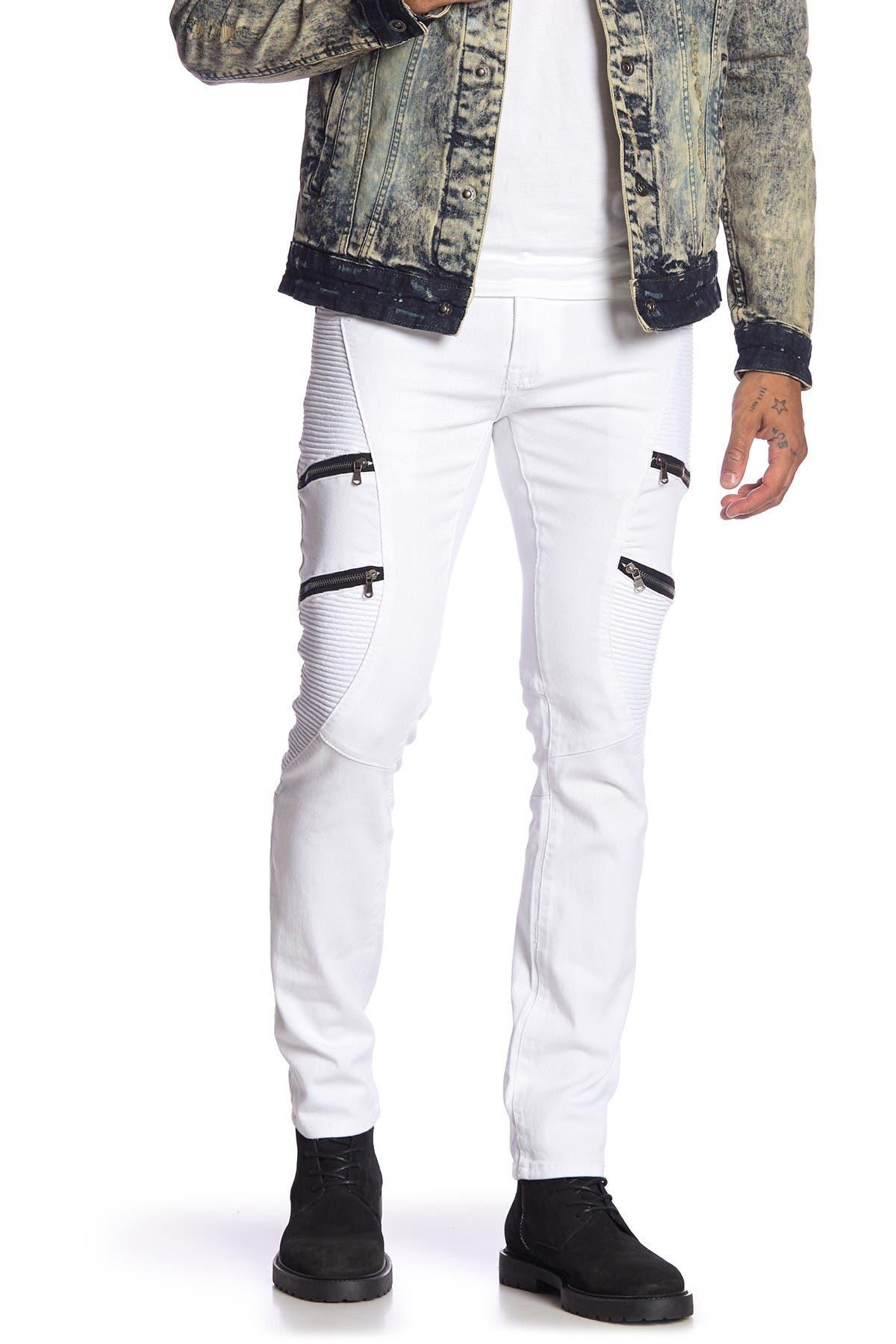 "Image of XRAY Multi Texture Zip Detail Jeans - 30-32"" Inseam"