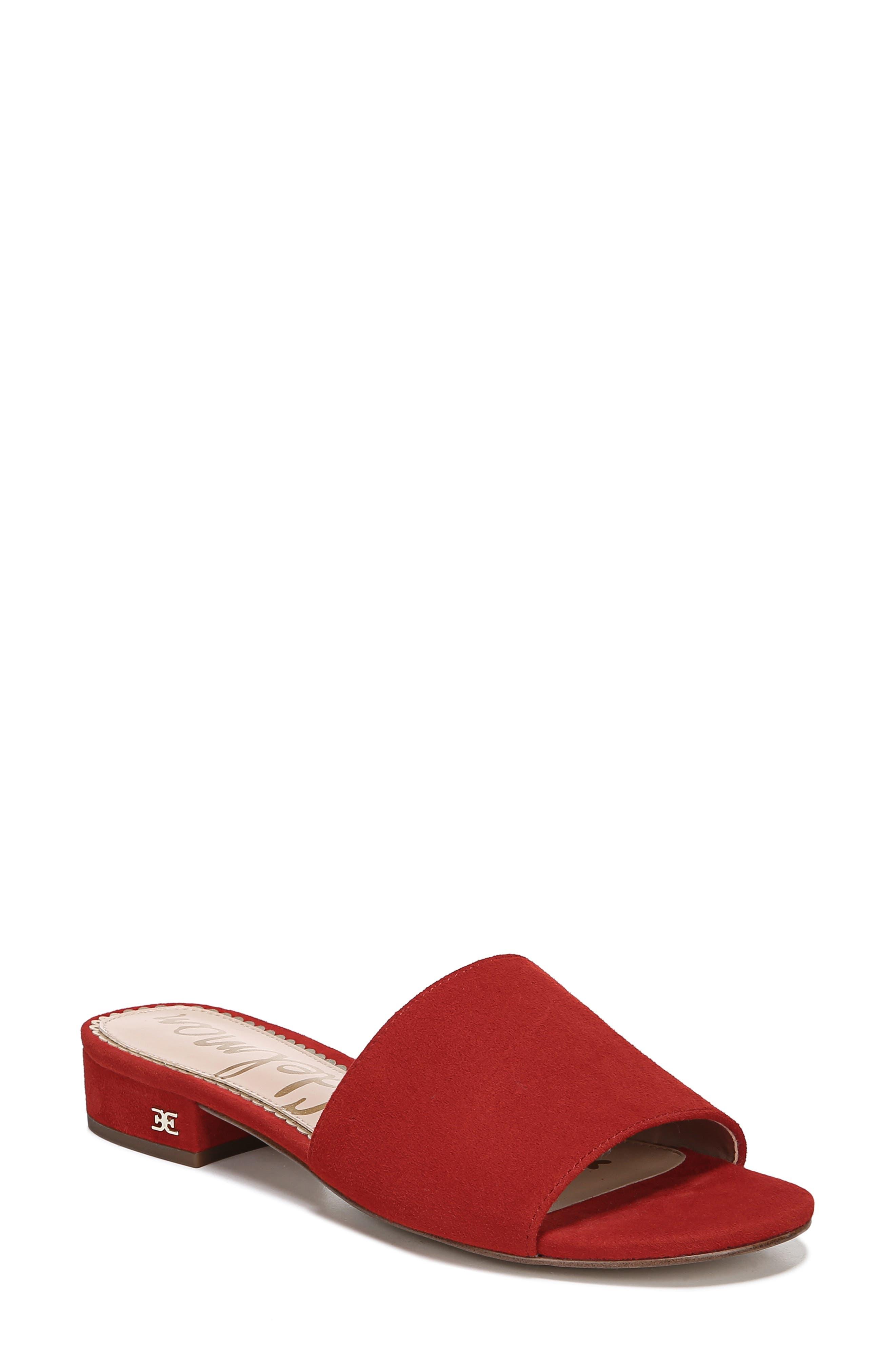 Sam Edelman Kenz Slide Sandal, Red