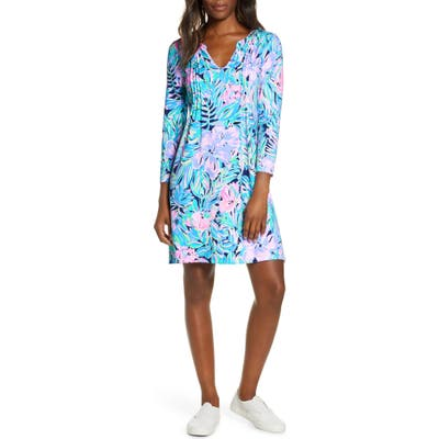 Lilly Pulitzer Aubrey Upf 50+ Shift Dress, Blue