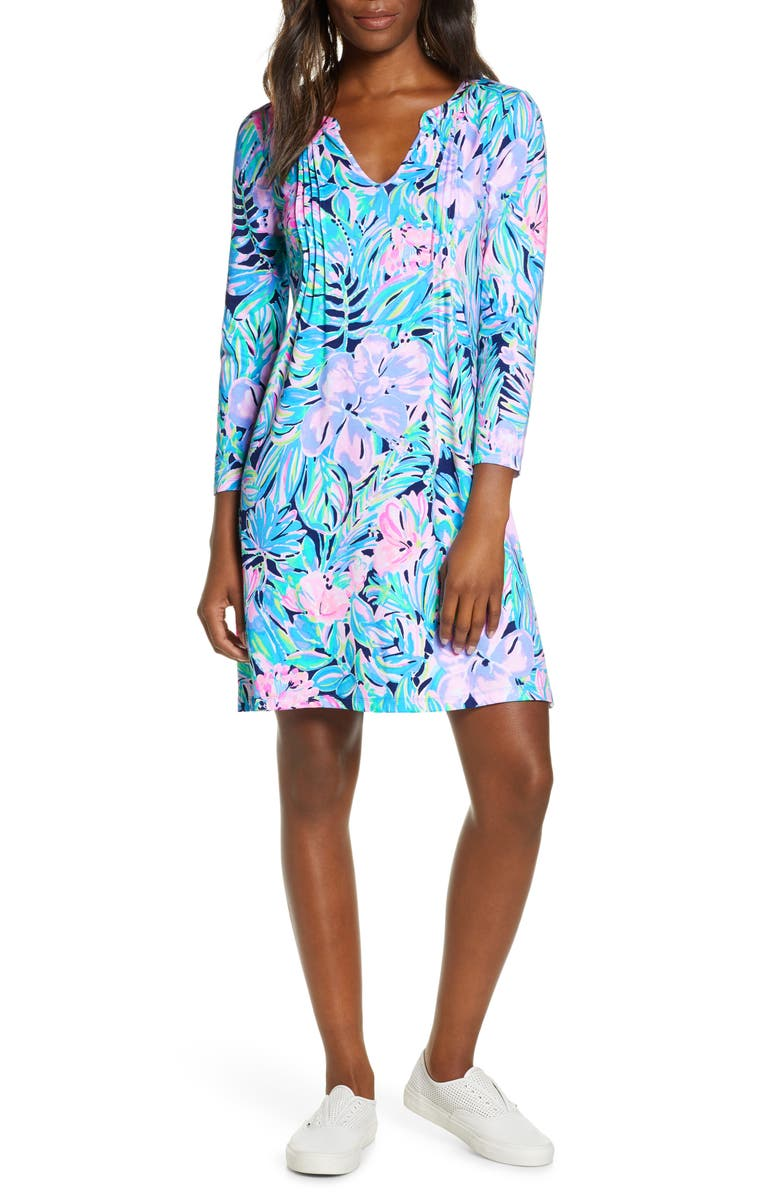 LILLY PULITZER<SUP>®</SUP> Aubrey UPF 50+ Shift Dress, Main, color, MULTI BERMUDAFUL