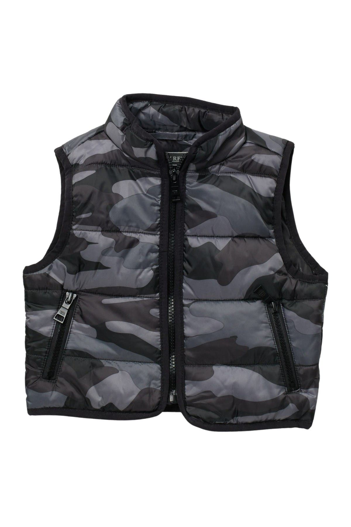 Image of Urban Republic Camo Print Reversible Puffer Vest
