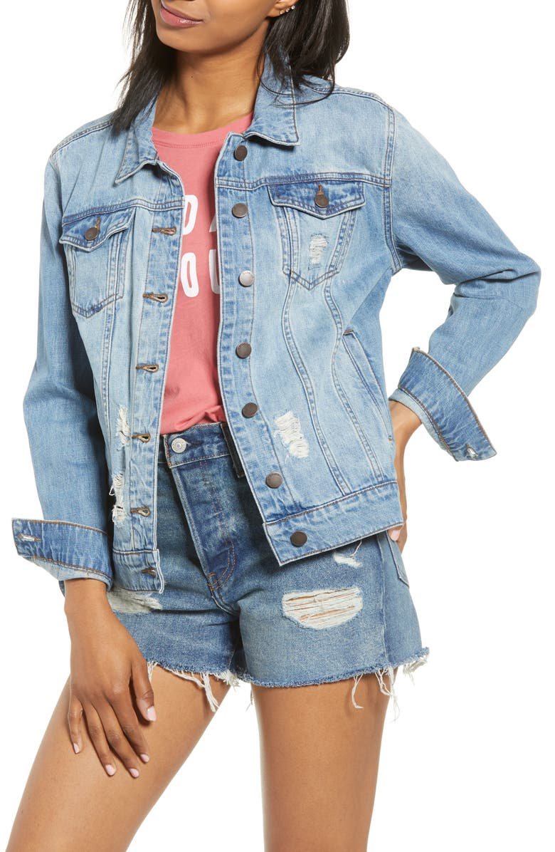 STS BLUE Ella Boyfriend Denim Jacket, Main, color, NORTH BARKER