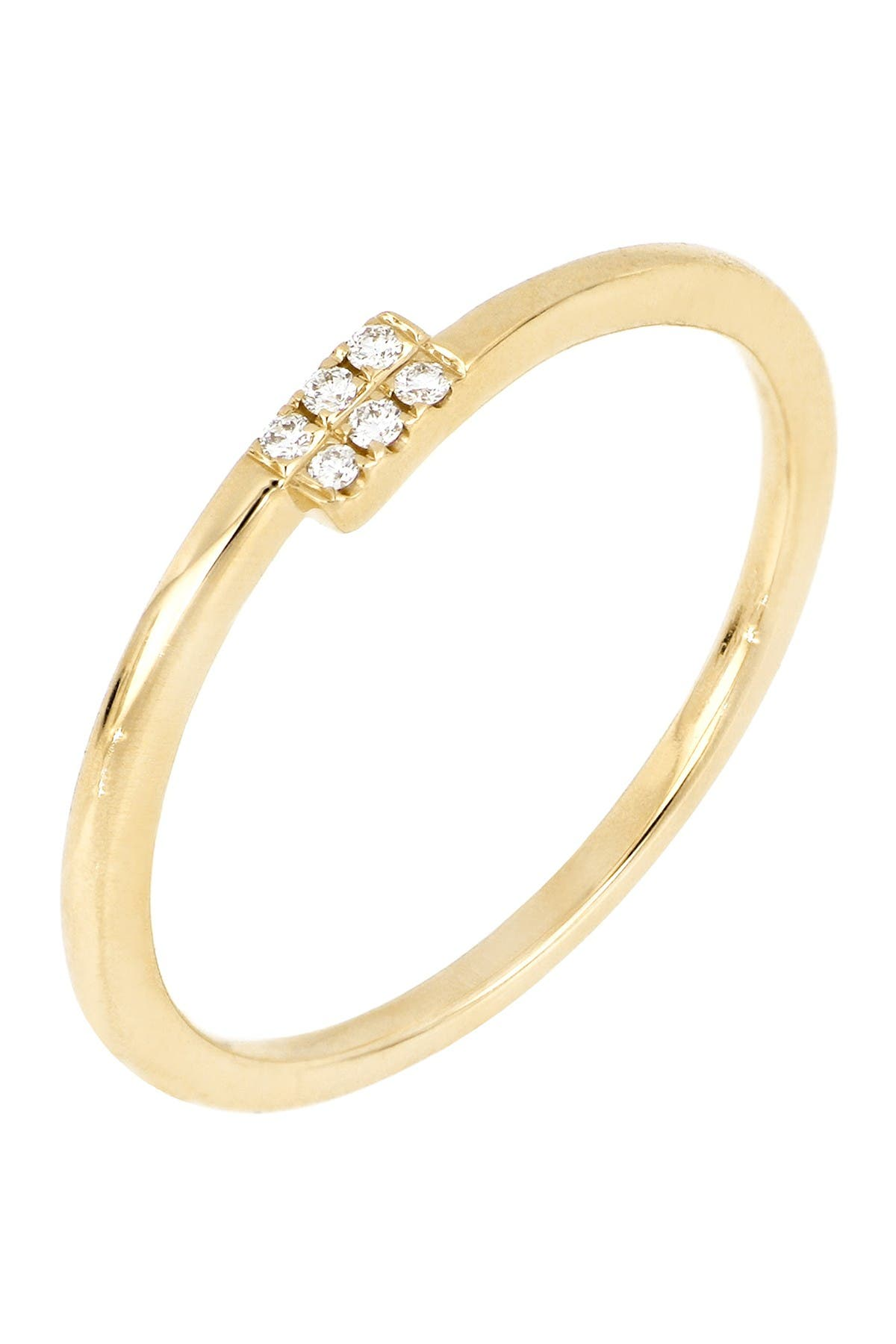 Image of Bony Levy 18K Yellow Gold Diamond Overlap Stackable Ring - 0.02 ctw