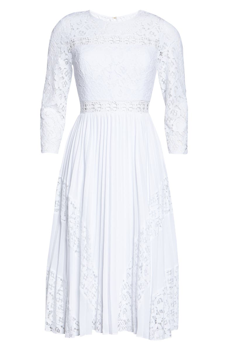 LILLY PULITZER<SUP>®</SUP> Aiden Fit & Flare Lace Dress, Main, color, RESORT WHITE