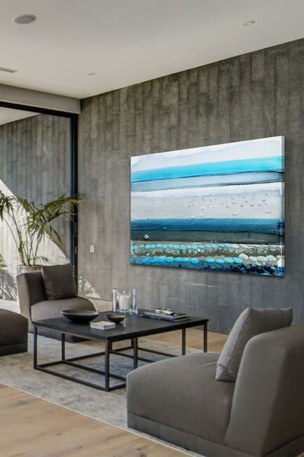"""Image of Marmont Hill Inc. Spiagga Painting Print on Wrapped Canvas - 12"""" x 8"""""""