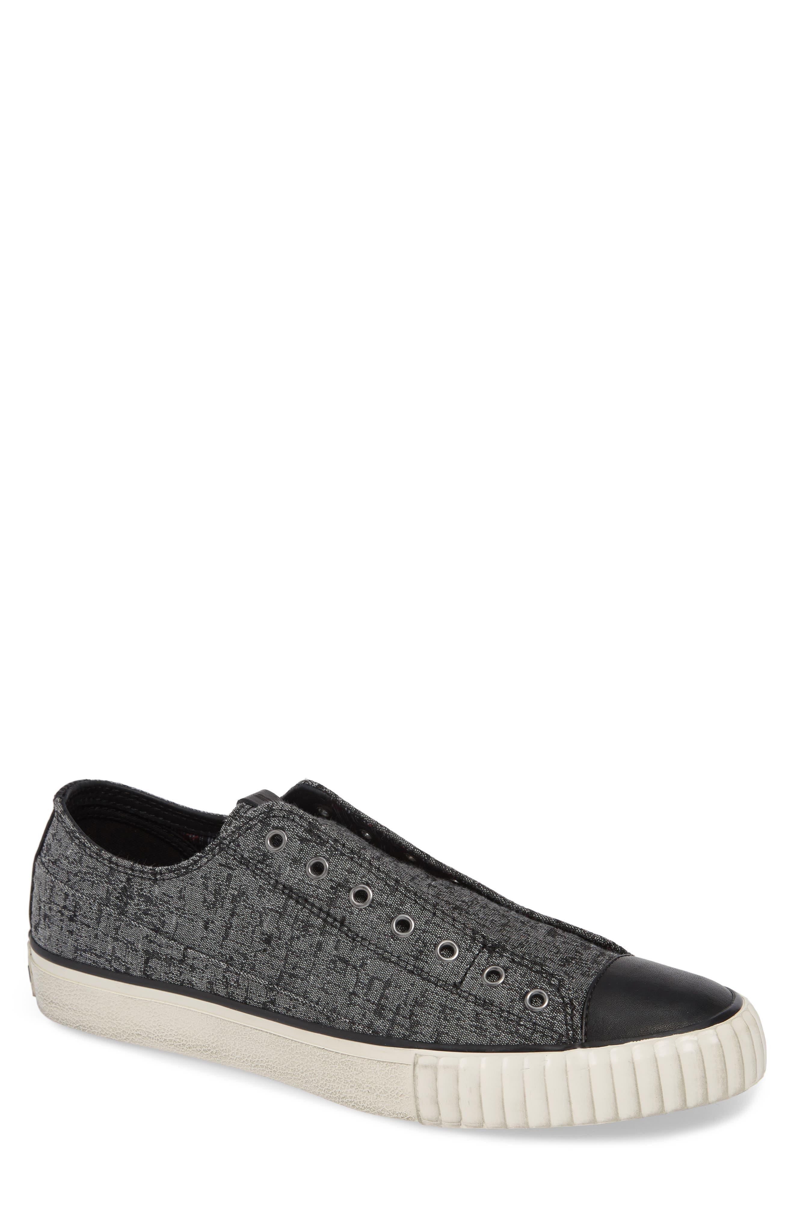 John Varvatos Star Usa Bootleg Laceless Sneaker- Grey