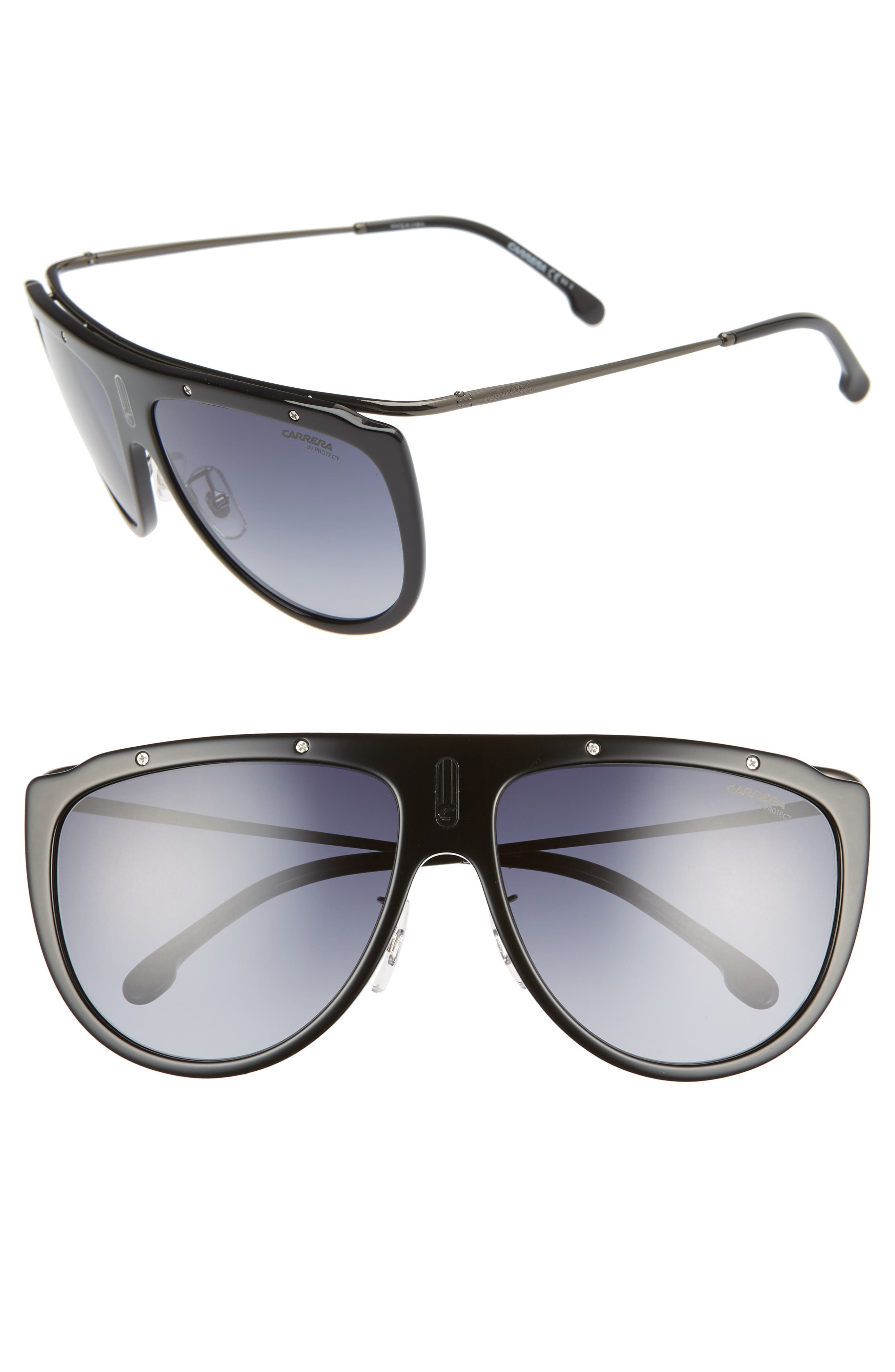 Carrera Eyewear 60Mm Aviator Sunglasses - Black