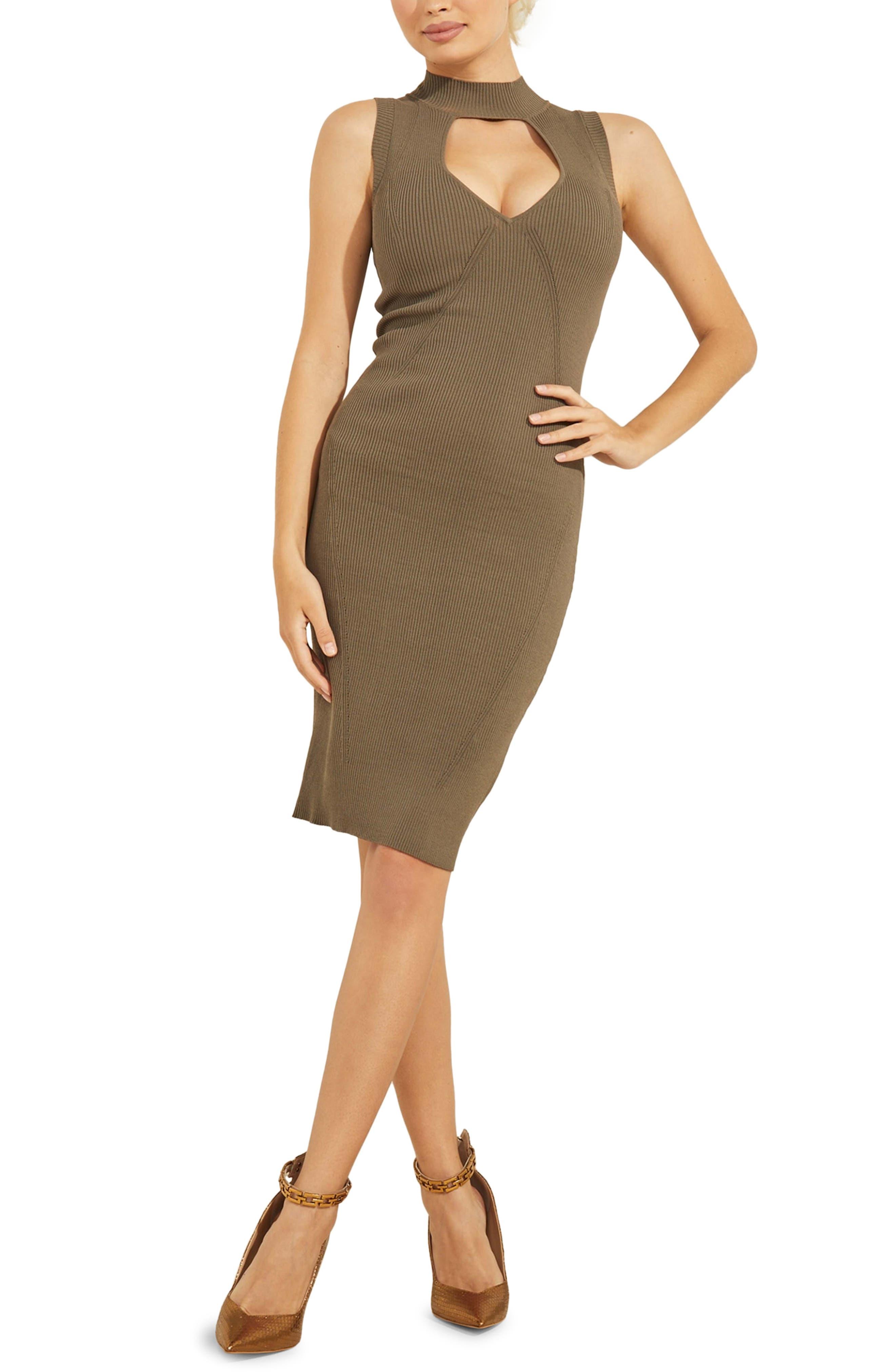 Carole Cutout Rib Sweater Dress