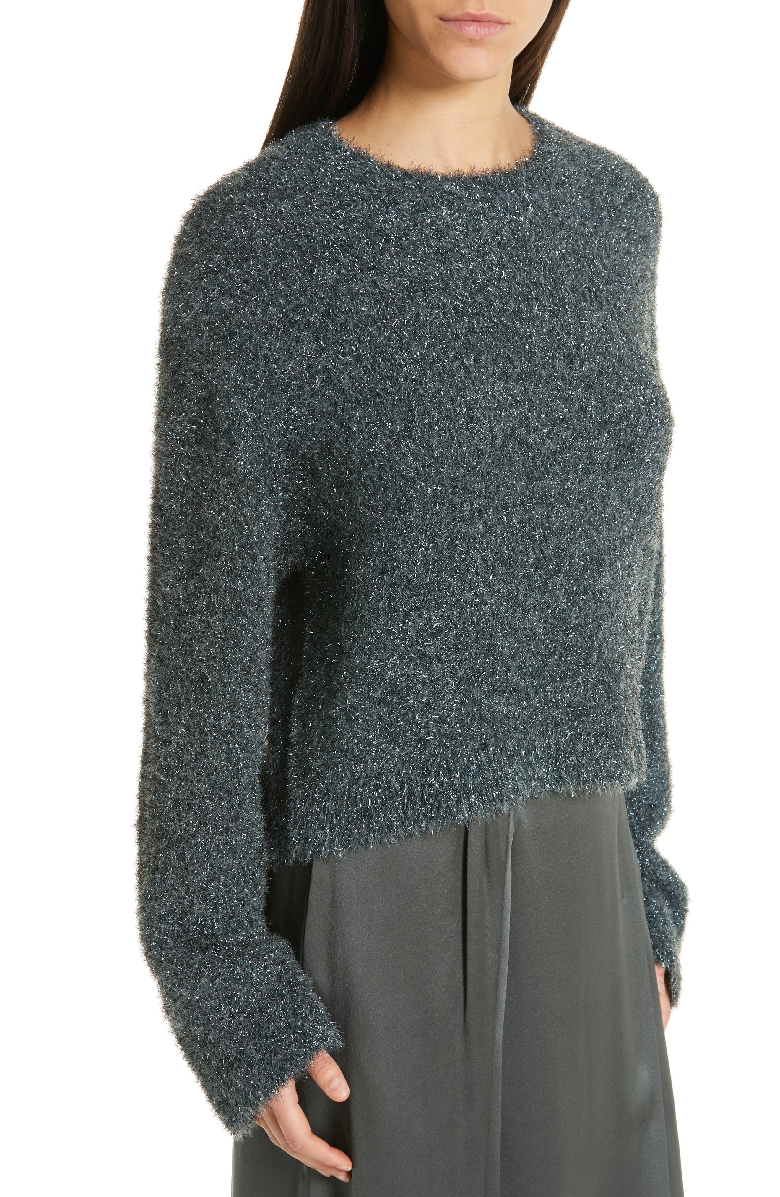 ,                             Boxy Metallic Knit Sweater,                             Alternate thumbnail 11, color,                             029