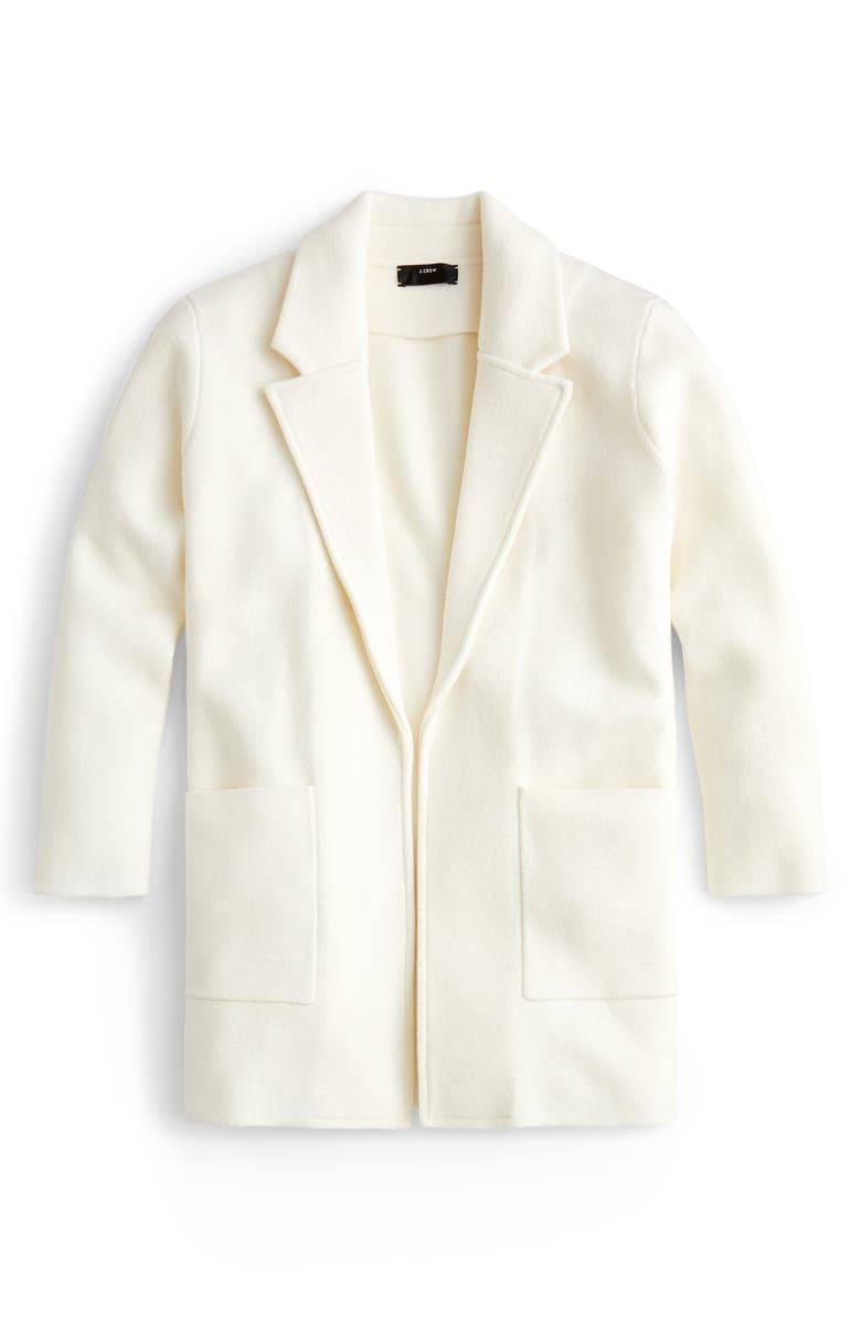 J.CREW New Lightweight Sweater Blazer, Main, color, IVORY