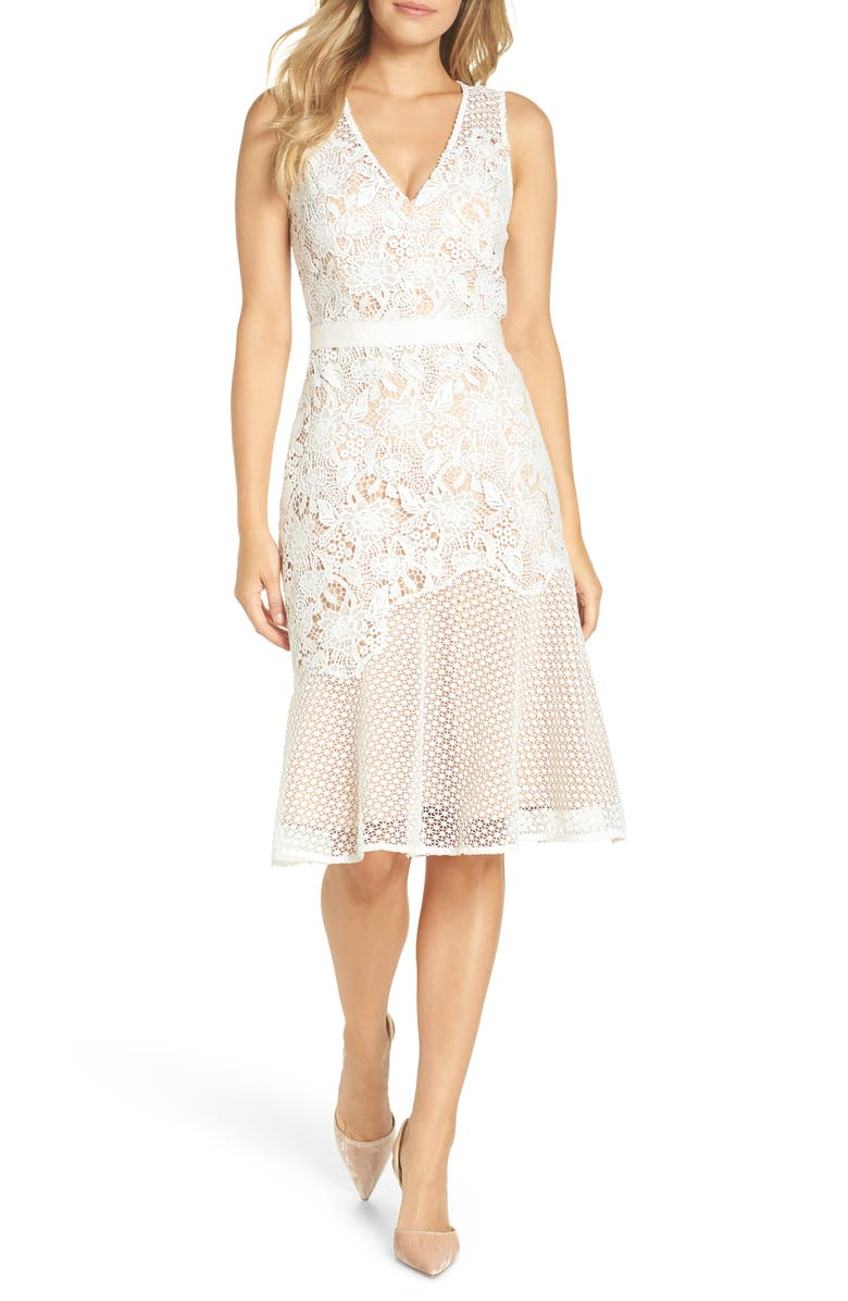 e334fa5c507 Adelyn Rae Lily Mixed Lace Dress | Nordstrom