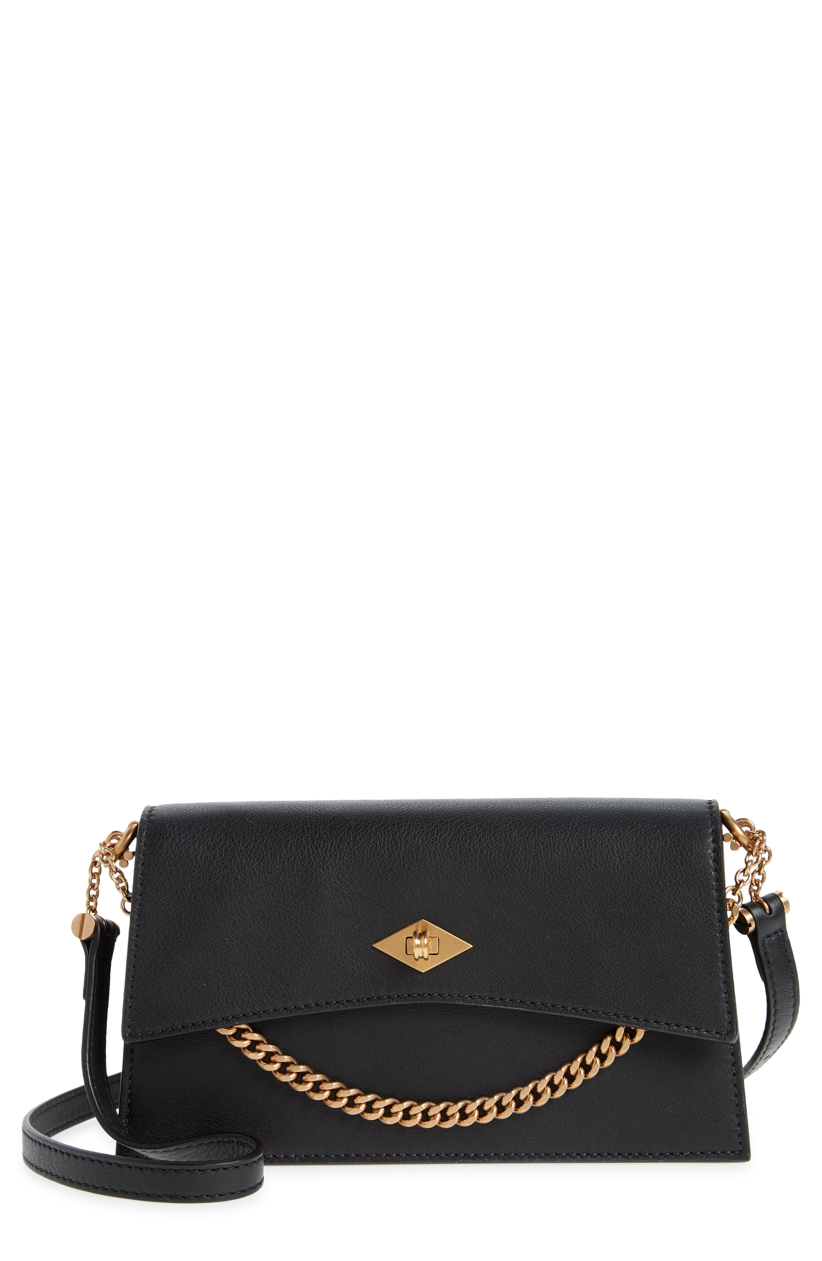 Mini Roma Leather Crossbody Bag