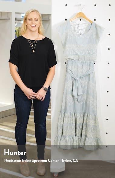 Tallulah Embroidered Cotton & Silk Midi Dress, sales video thumbnail