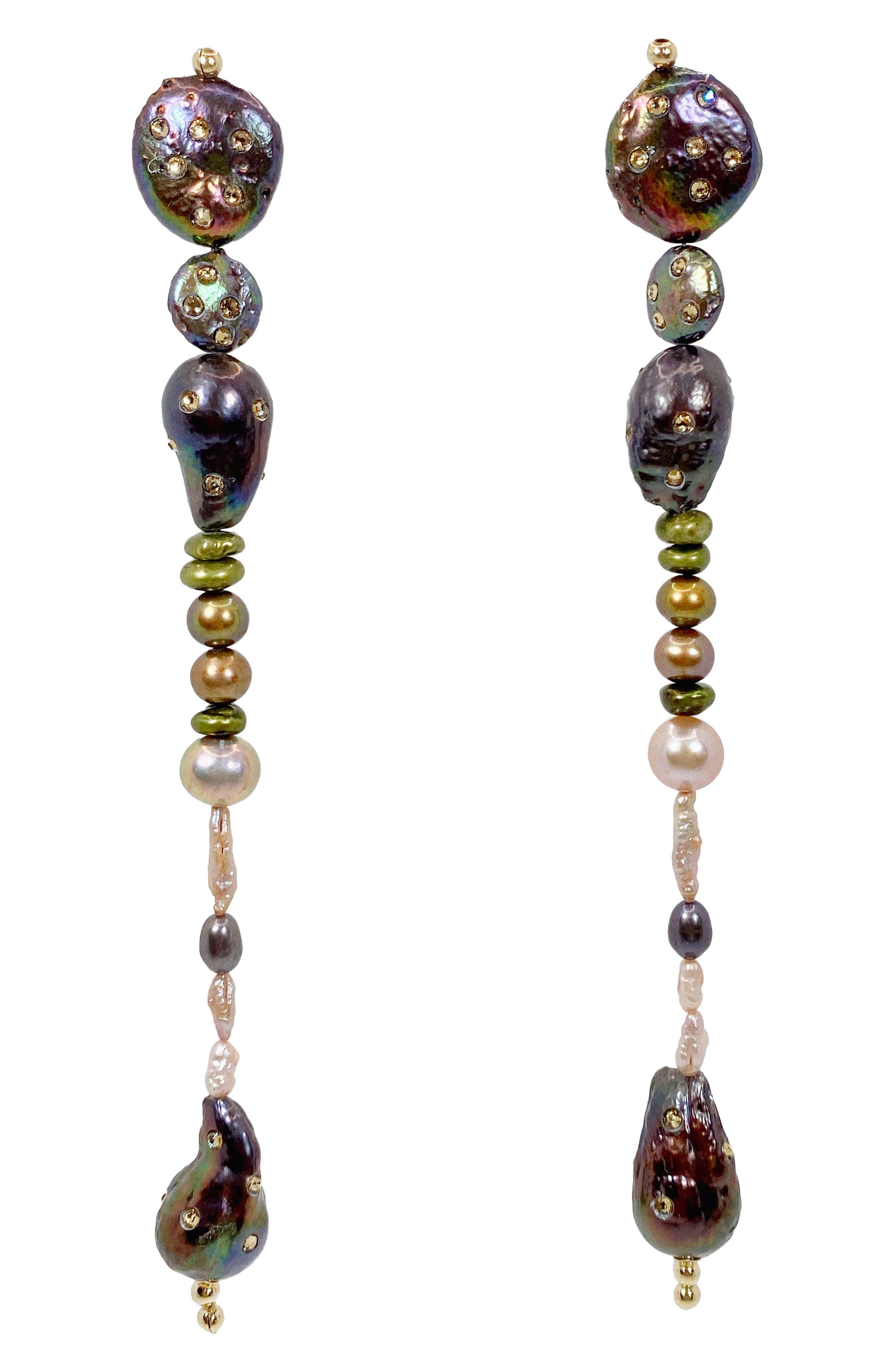Stream Freshwater Pearl Linear Earrings (Nordstrom Exclusive)
