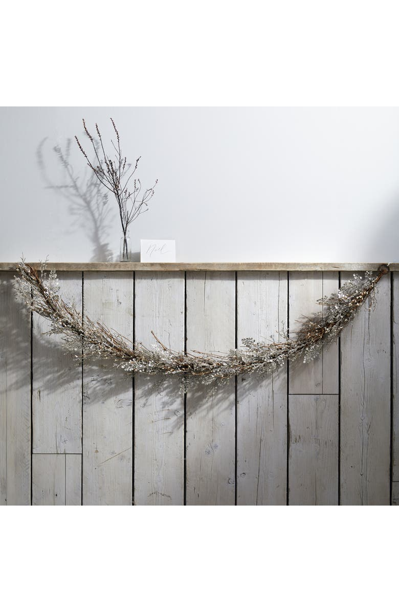 THE WHITE COMPANY Sparkle Fern Branch Garland, Main, color, 040
