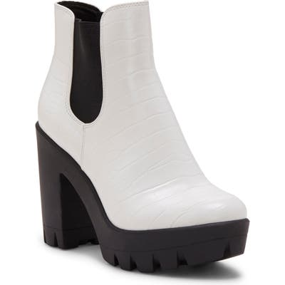 Jessica Simpson Miraney Chelsea Boot, White