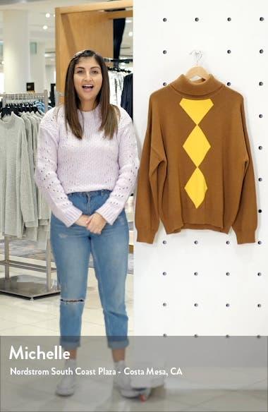 Diamond Turtleneck Cotton & Cashmere Sweater, sales video thumbnail