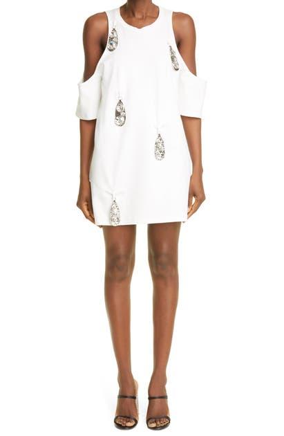 Area Dresses PENDANT COLD SHOULDER DRESS