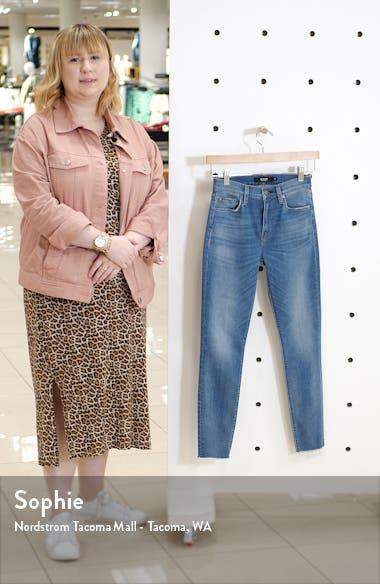Barbara High Waist Raw Hem Ankle Super Skinny Jeans, sales video thumbnail