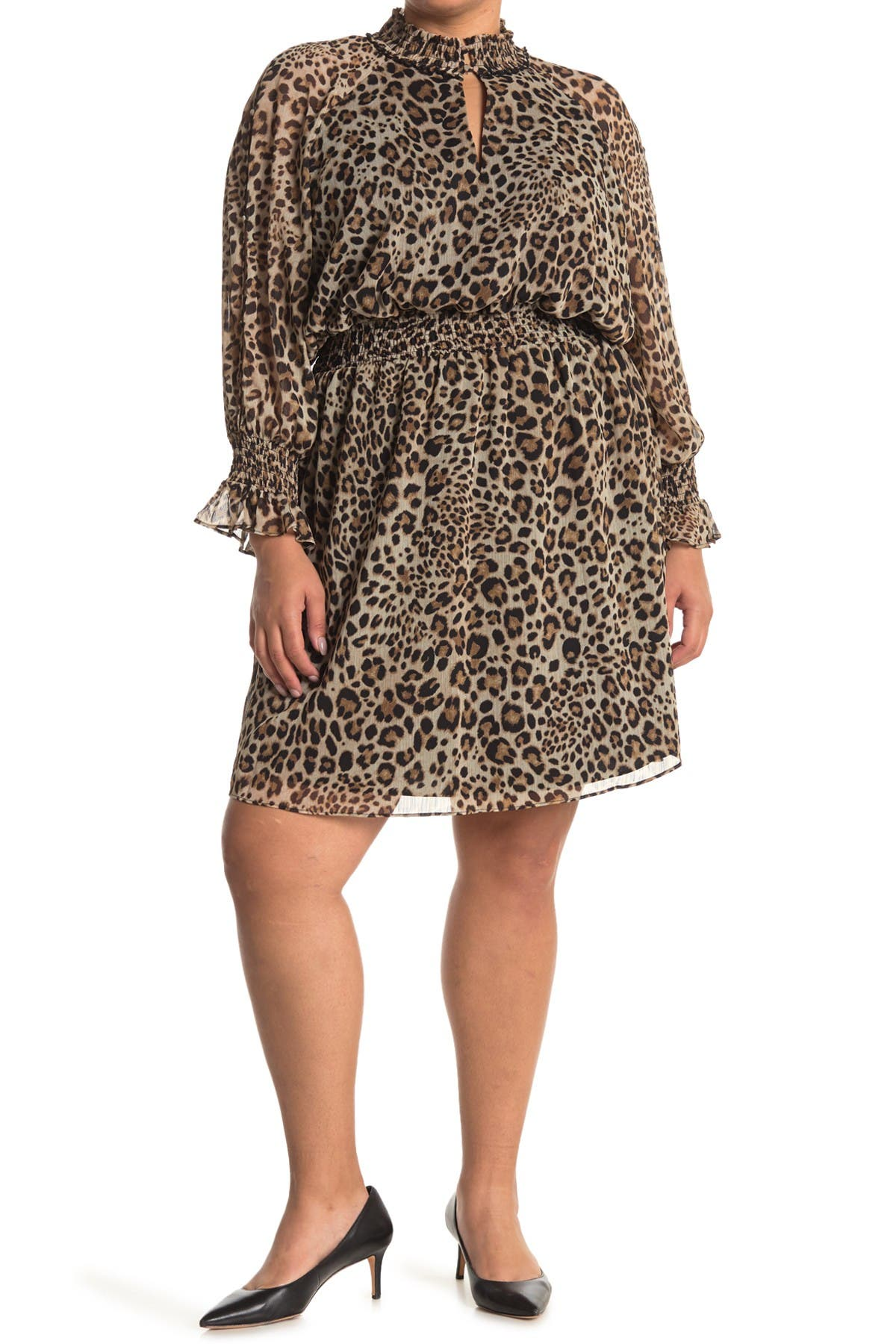 Image of Rachel Roy Lucky Leopard Print Dress