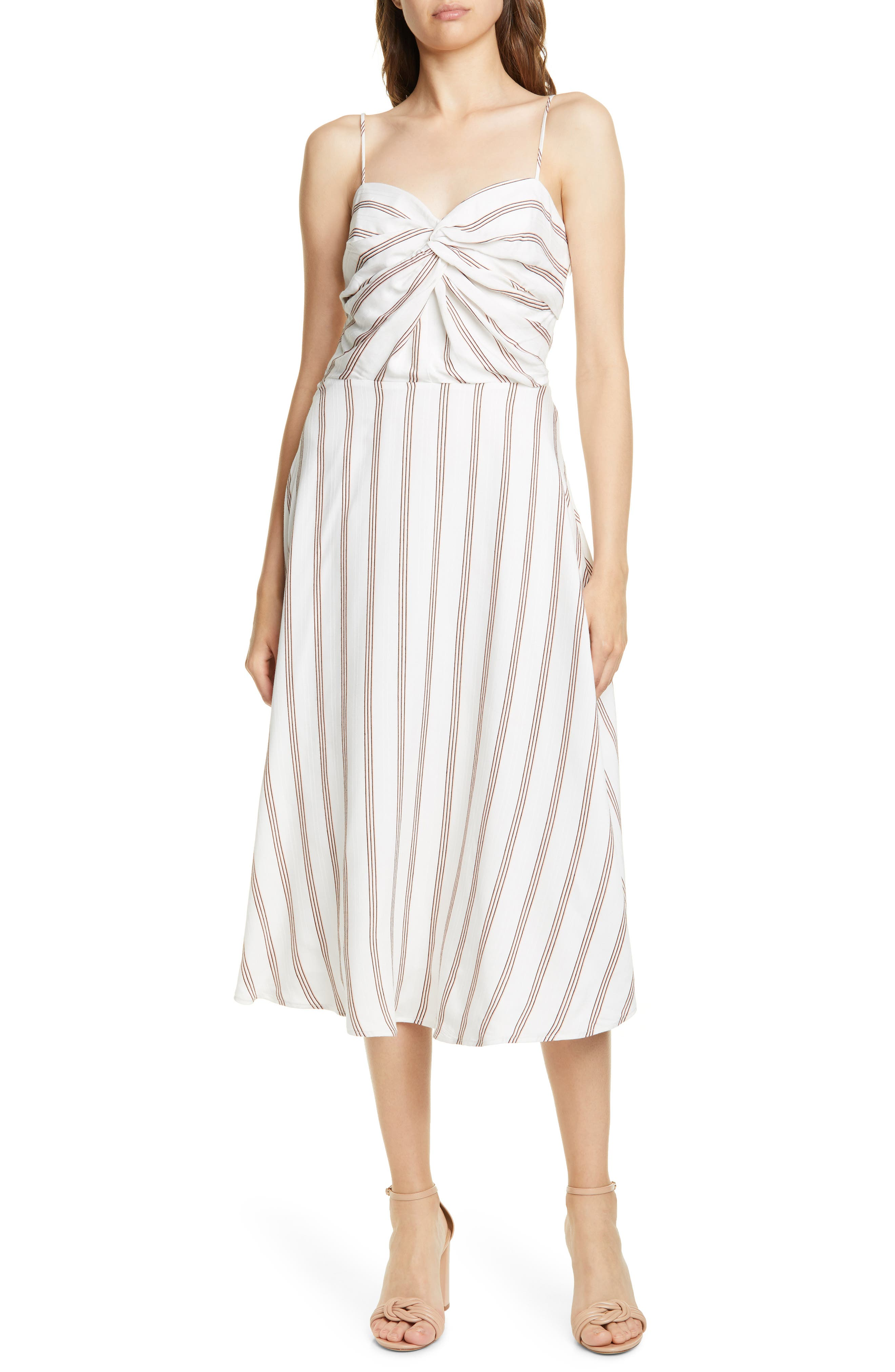 Joie Chalten Stripe Sundress, Ivory