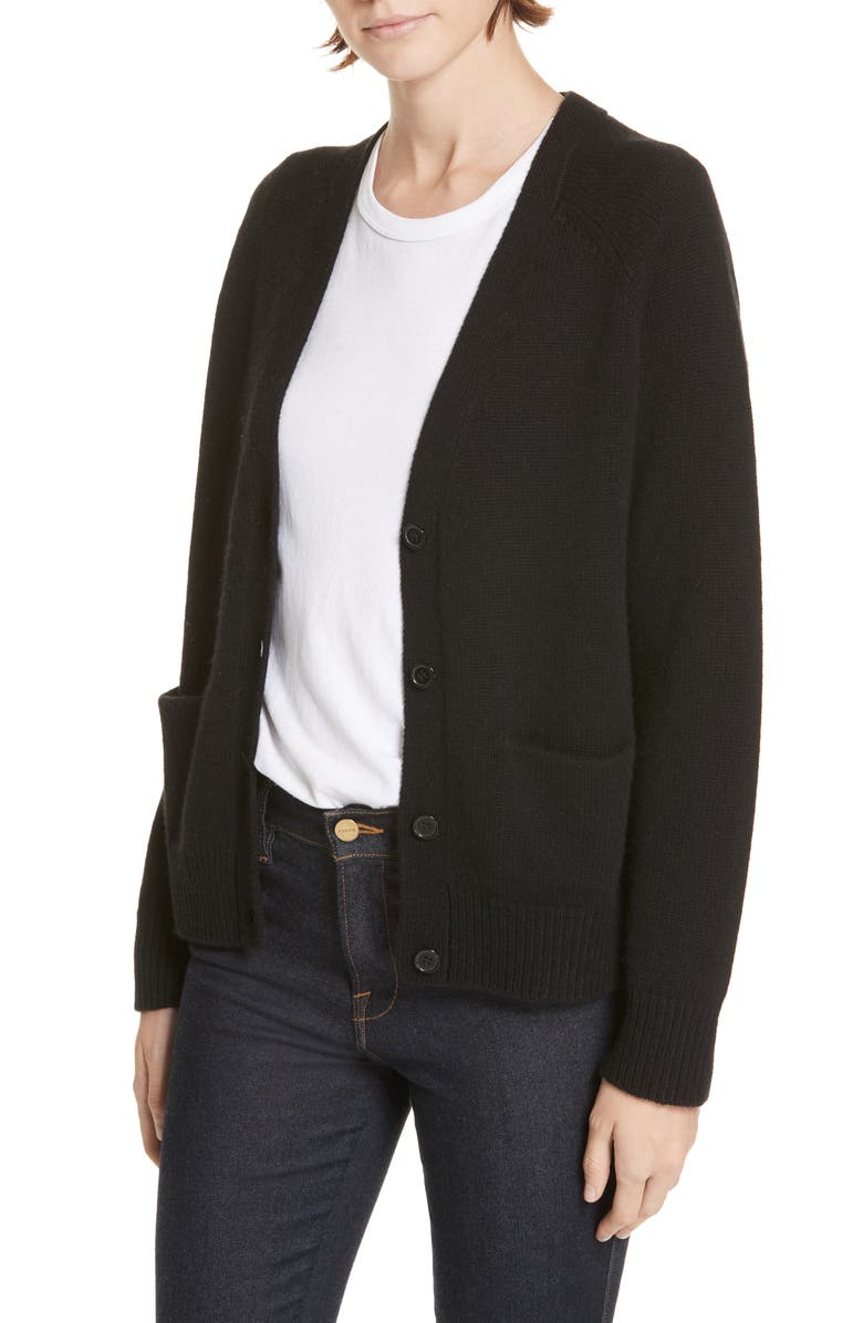 JENNI KAYNE Stanford Cashmere Cardigan, Main, color, BLACK
