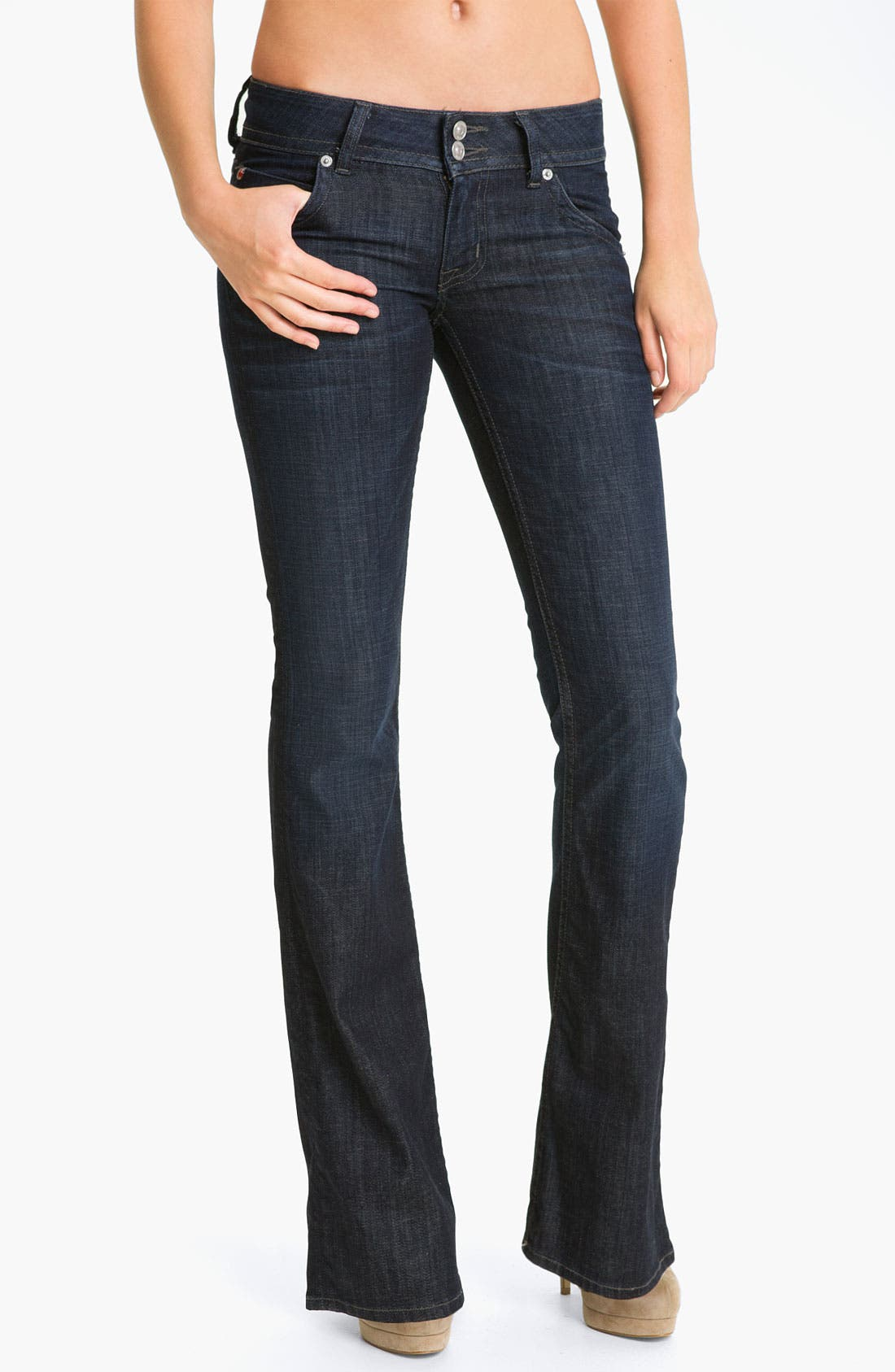 ,                             Signature Flap Pocket Bootcut Jeans,                             Main thumbnail 61, color,                             468