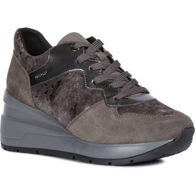 Geox Zosma Wedge Sneaker, Grey