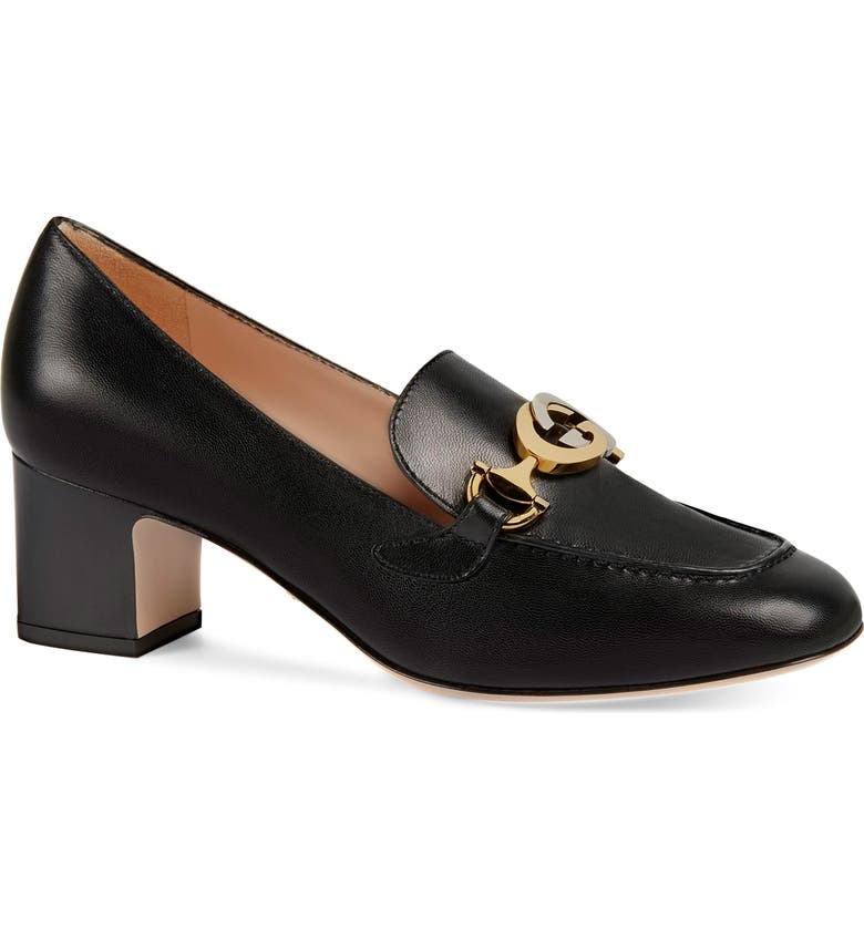 GUCCI Zumi Loafer Pump, Main, color, BLACK