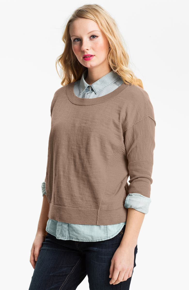 CASLON<SUP>®</SUP> Slub Crewneck Sweater, Main, color, 250