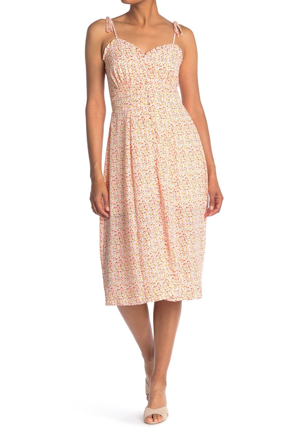 Image of ROW A Spaghetti Tie Strap Midi Dress