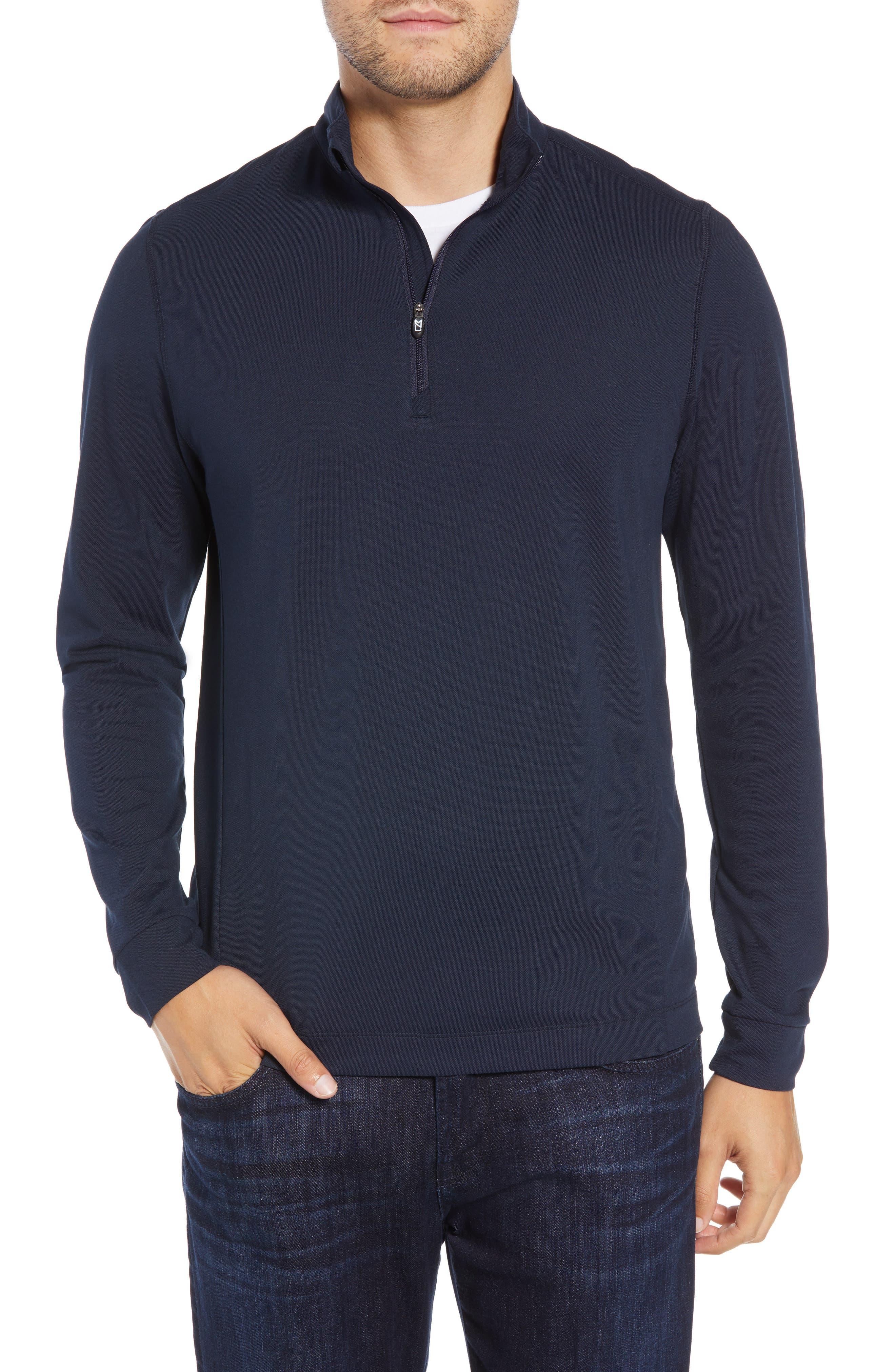 Advantage Regular Fit Drytec Mock Neck Pullover