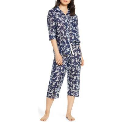 Papinelle Isabelle Cotton & Silk Crop Pajamas, Blue