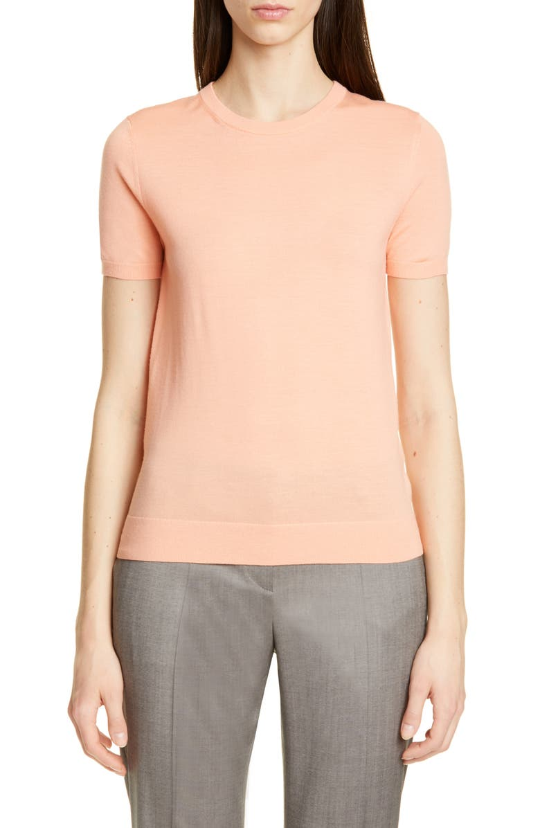 BOSS Falyssa Merino Wool Knit Sweater, Main, color, BRIGHT PEACH