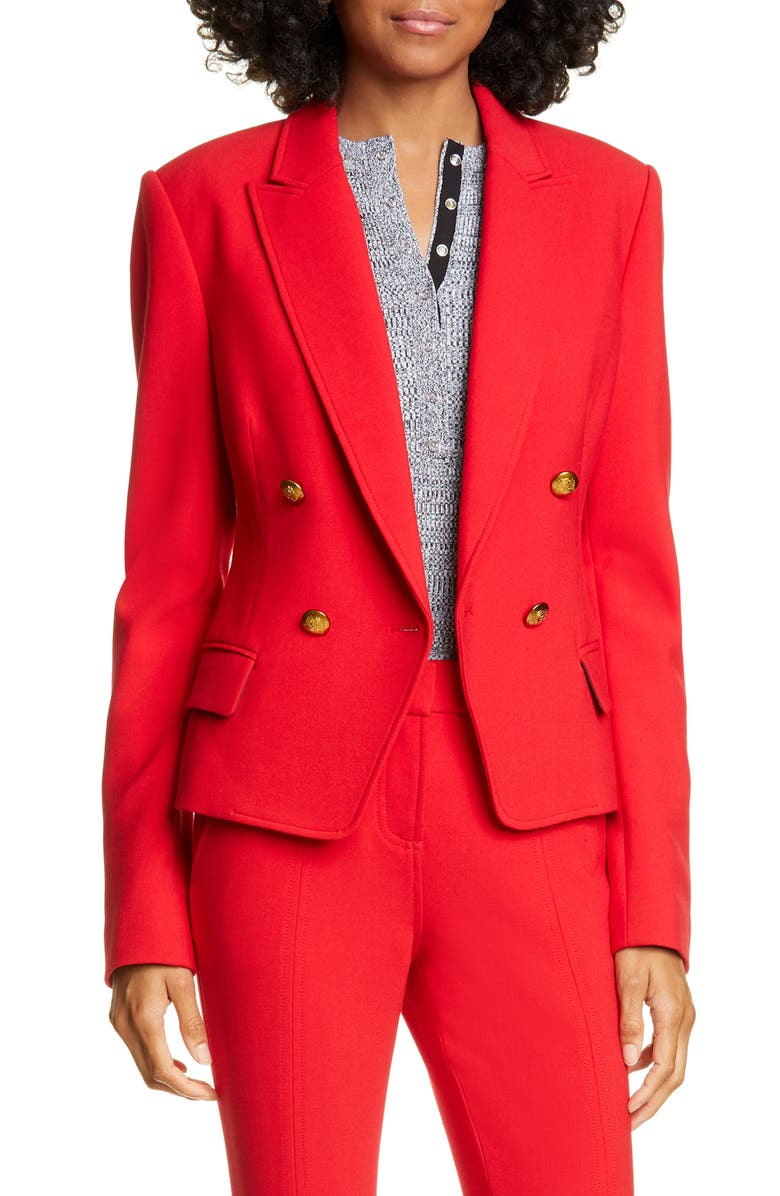 A.L.C. Hendrick Double Breasted Jacket, Main, color, RED
