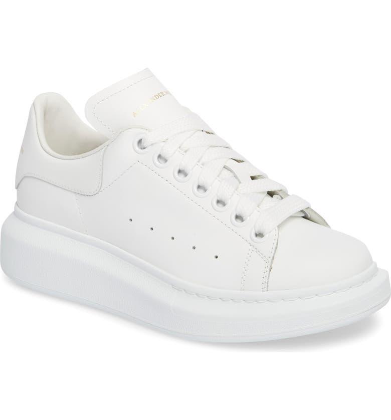 ALEXANDER MCQUEEN Sneaker, Main, color, WHITE/ WHITE